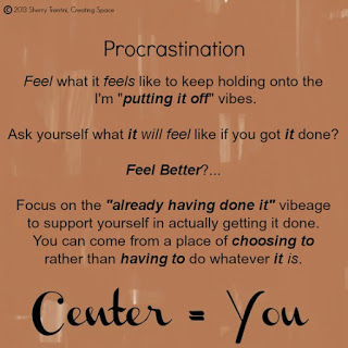 Couples Therapy:  My Relationship with Procrastination