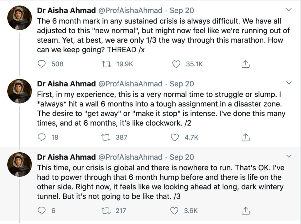 screenshot of Dr Ahmad twitter