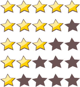 Image of star rating scale